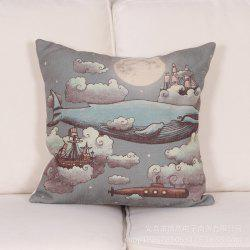Cotton and Whale Hug Pillowcase -