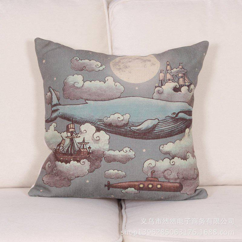 Online Cotton and Whale Hug Pillowcase