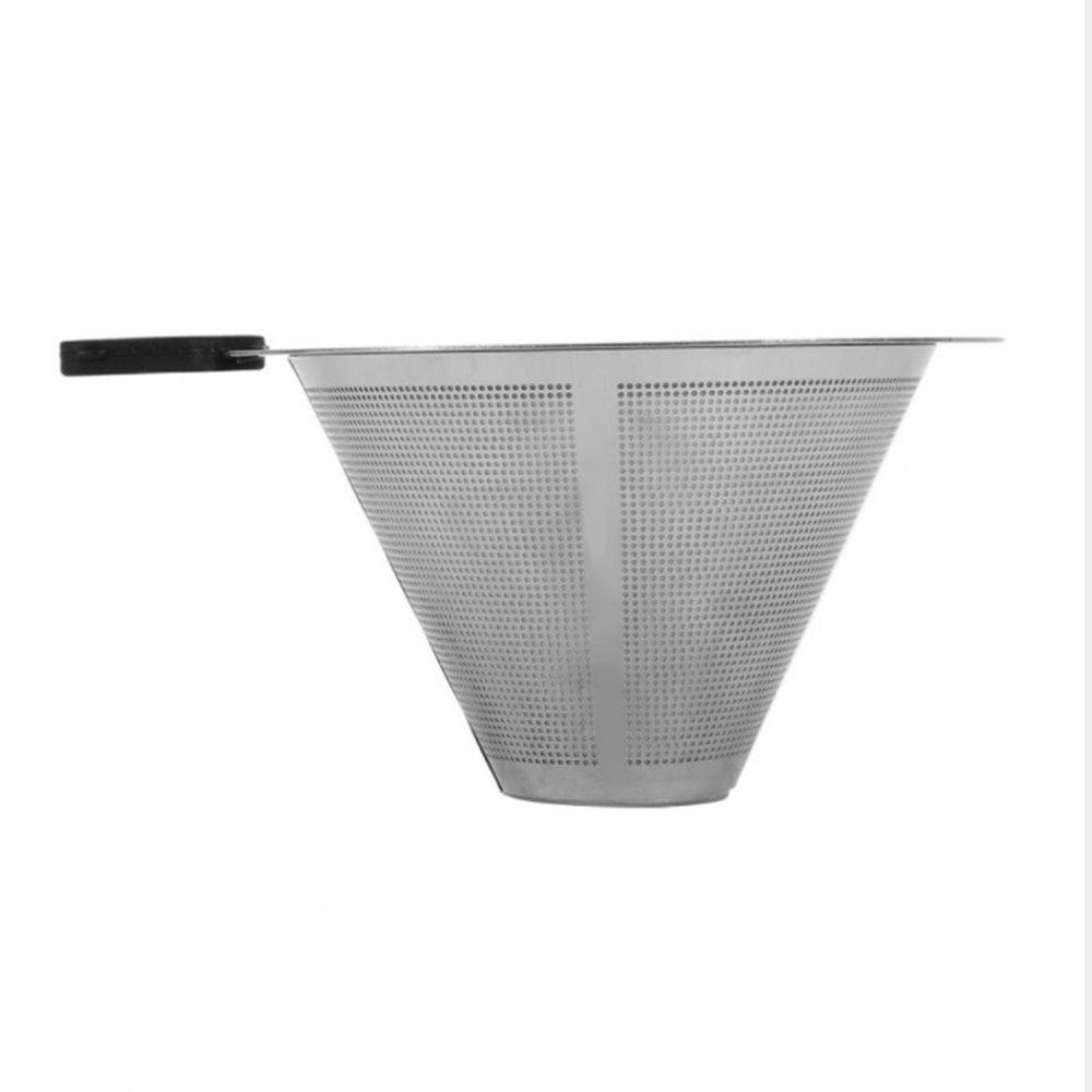 Discount Reusable Stainless Steel Coffee Filter Funnel