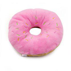 Cute Donut Plush Vocal Pet Toy -