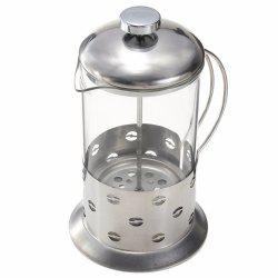 Stainless Steel Manual Pressure Glass Coffee Teapot -