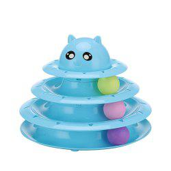 Pet Three Layer Turntable with Ball Cat Fun Toy Cat -