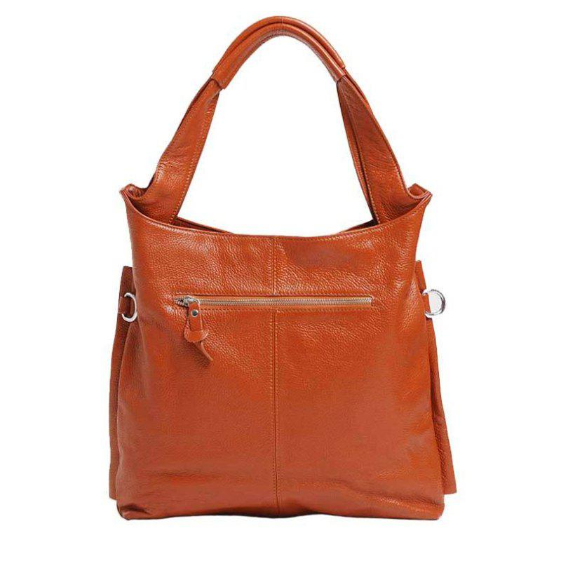 Trendy Real Leather Handbag With Tote Bag For Ladies