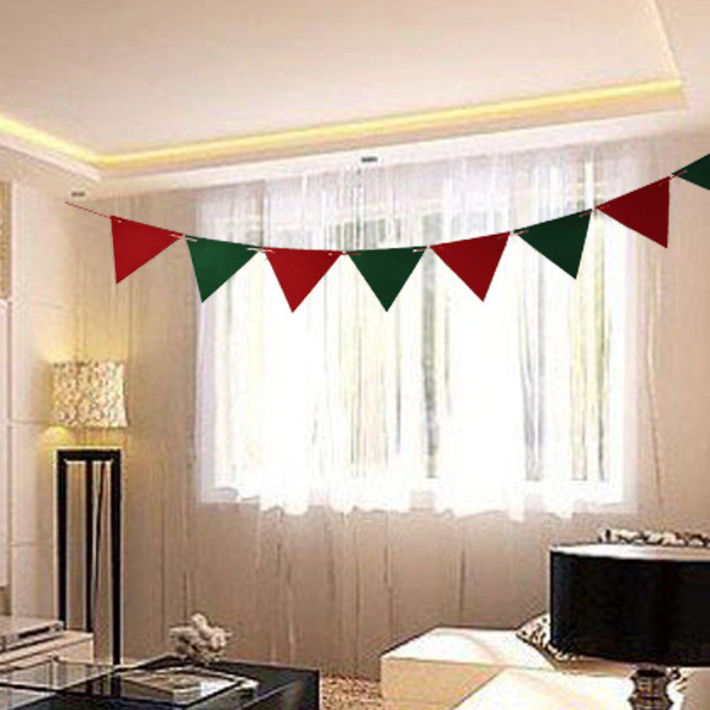 Cheap Christmas decorations event party flag flags triangular flags non-woven flanne