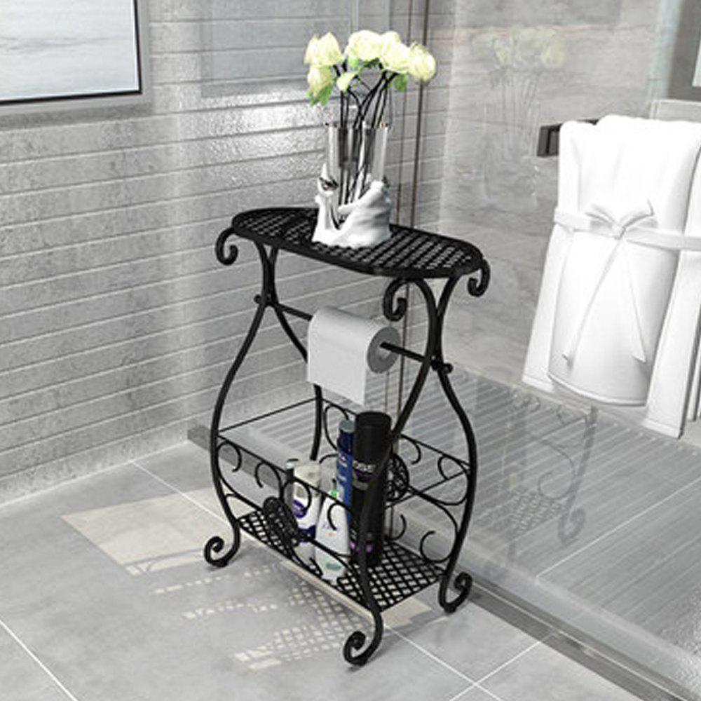 Online Wrought Iron Shelf Vantage Floor Holder Home Office Toilet Storage Rack Plant St