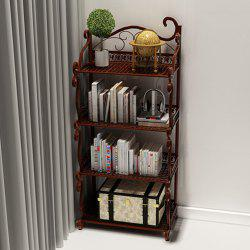 4 Teir Wrought Iron Floor Shelf Home Office Simple Vantage Display Rack -