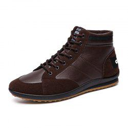 New Style Men Stylish Warmest Soft Ankle Casual Leather Shoes -