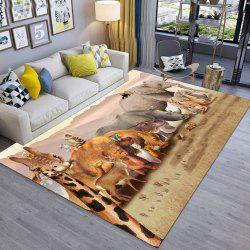 Girafe moderne simple d'impression 3D exquise porte de tapis de salon et chambre à coucher -