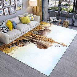Giraffe and Hippopotamus Modern Simple 3D Printing Exquisite Living Room and Bed -