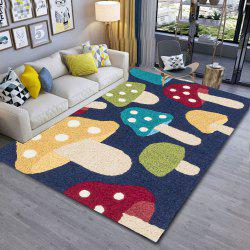 Colorful Mushroom 3D Printing Exquisite Living Room and Bedroom Carpet Door Mat -