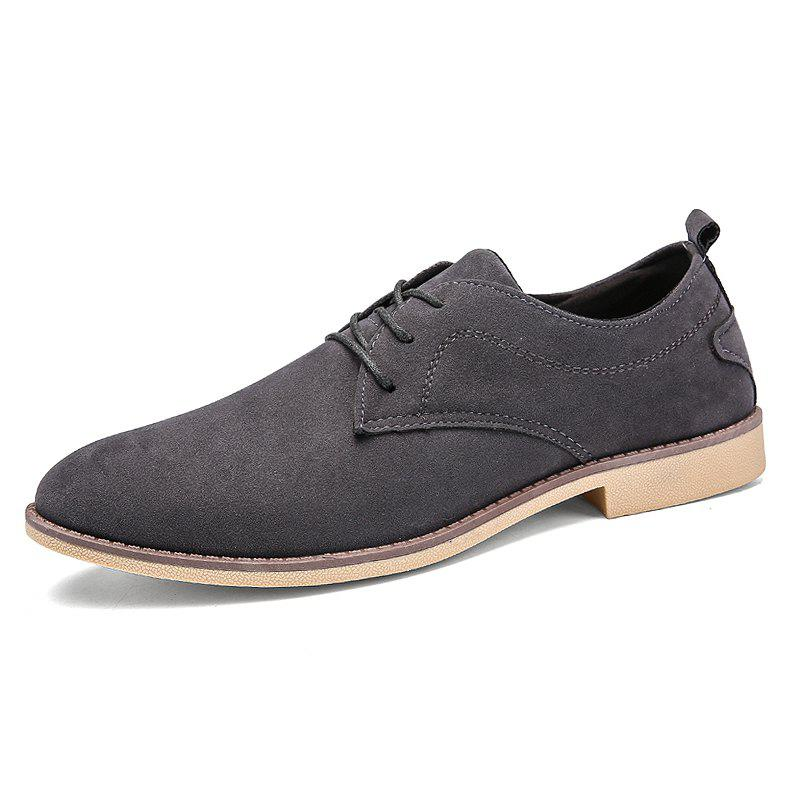 Shops Classic Sanded Men'S Small Leather Shoes
