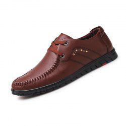Men Business Official British Casual Chaussures en cuir -