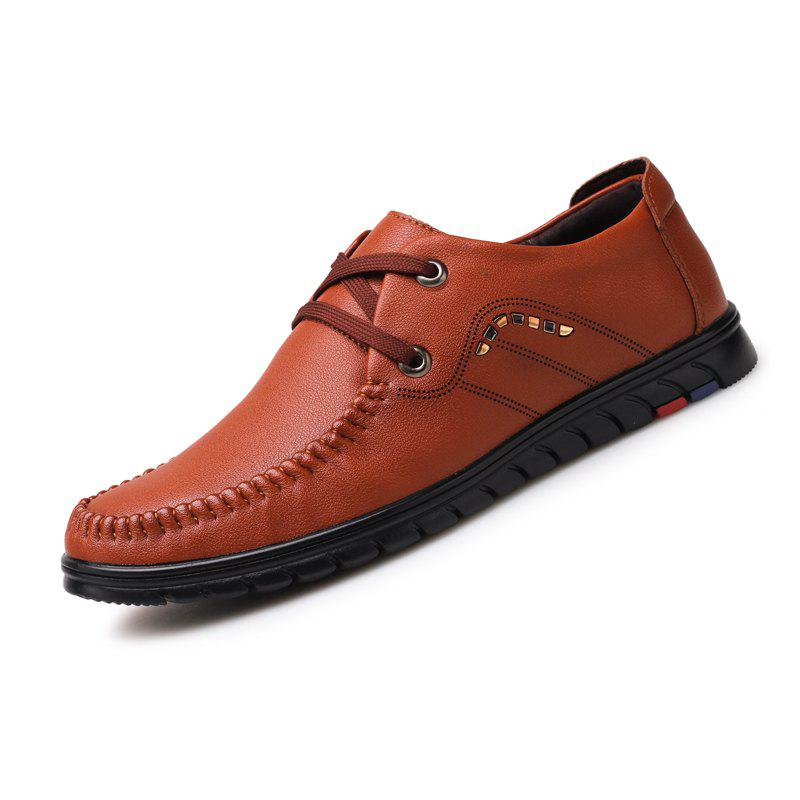 Men Business Official British Casual Chaussures en cuir