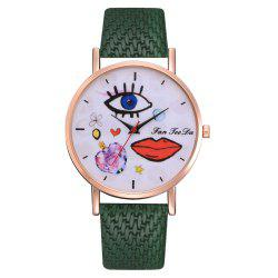 The Trend of Perfume Graffiti Mirror Quality Character Belt Alloy Watch -