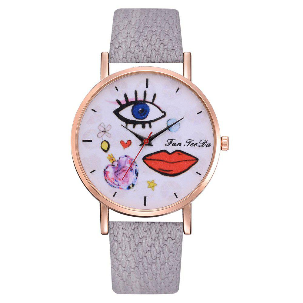 Best The Trend of Perfume Graffiti Mirror Quality Character Belt Alloy Watch