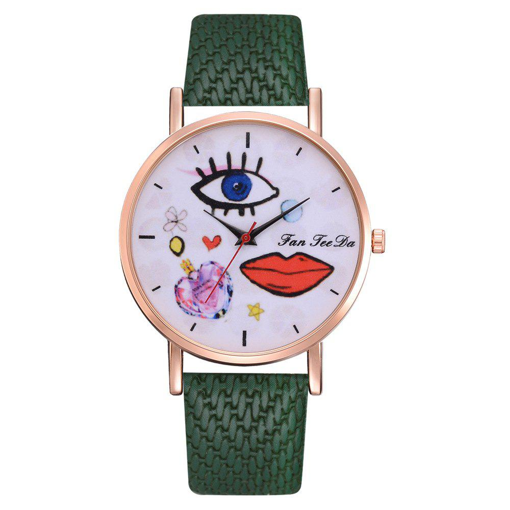 Outfits The Trend of Perfume Graffiti Mirror Quality Character Belt Alloy Watch