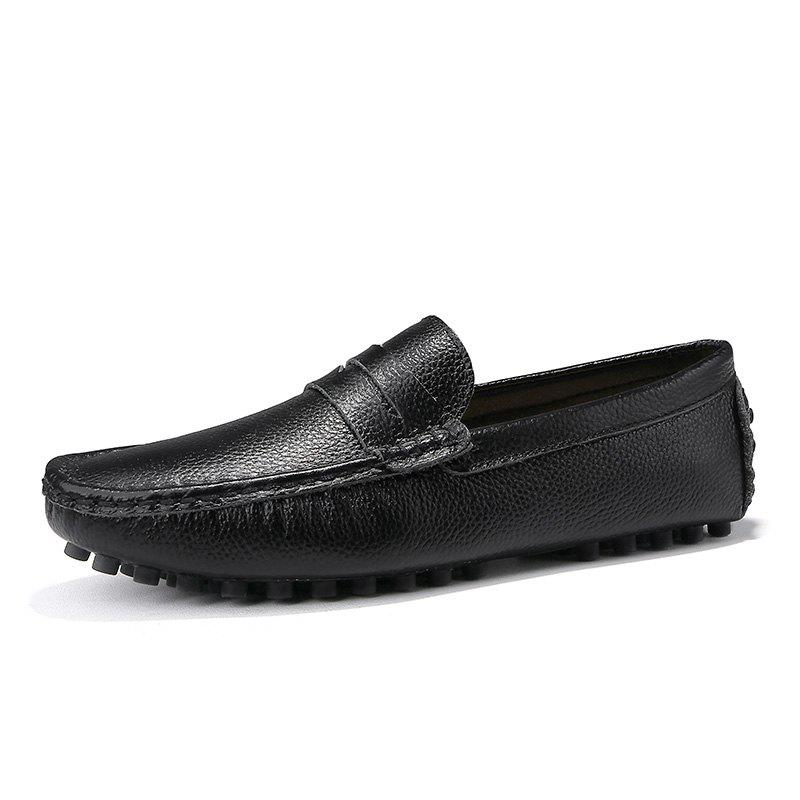 Fashion Casual Shoes  Leather Driving loafers