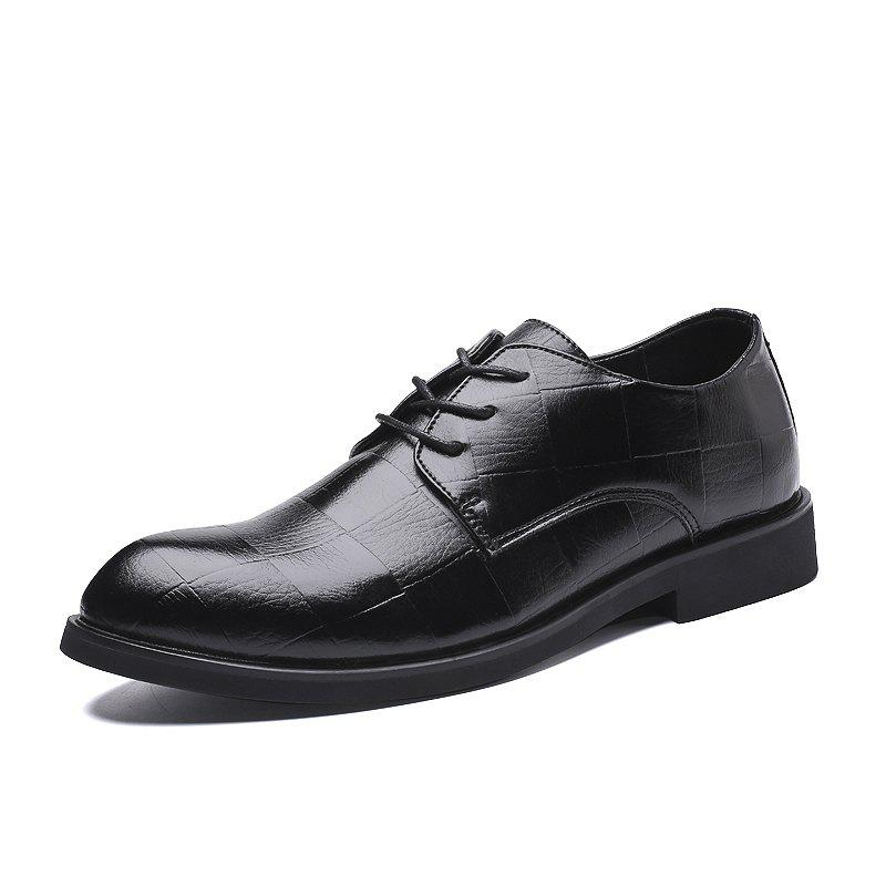Trendy Dress Shoe Leather Wedding Shoes Formal Shoes Big Size