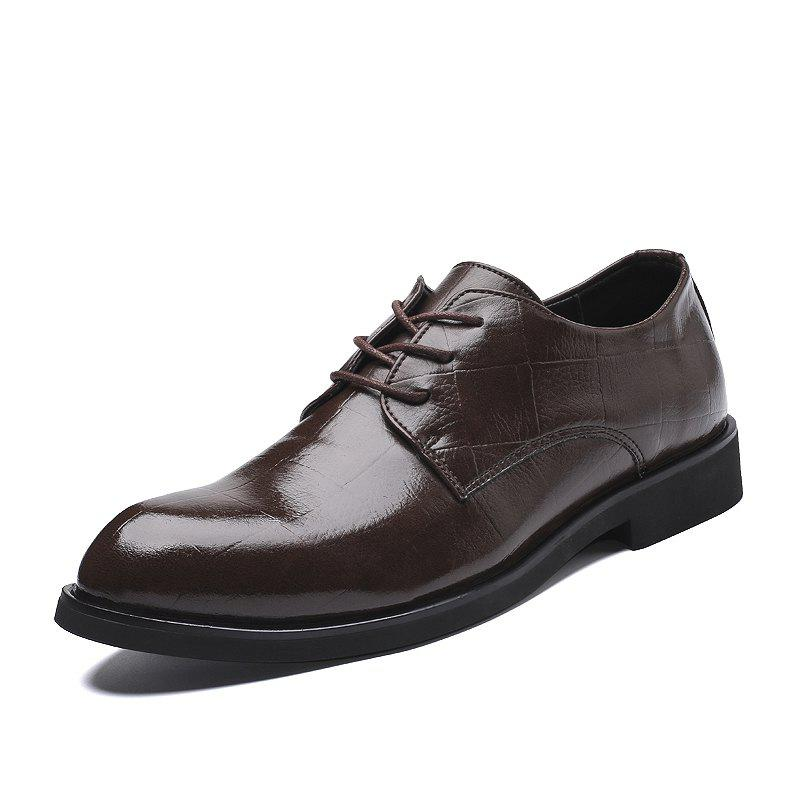 Chic Dress Shoe Leather Wedding Shoes Formal Shoes Big Size