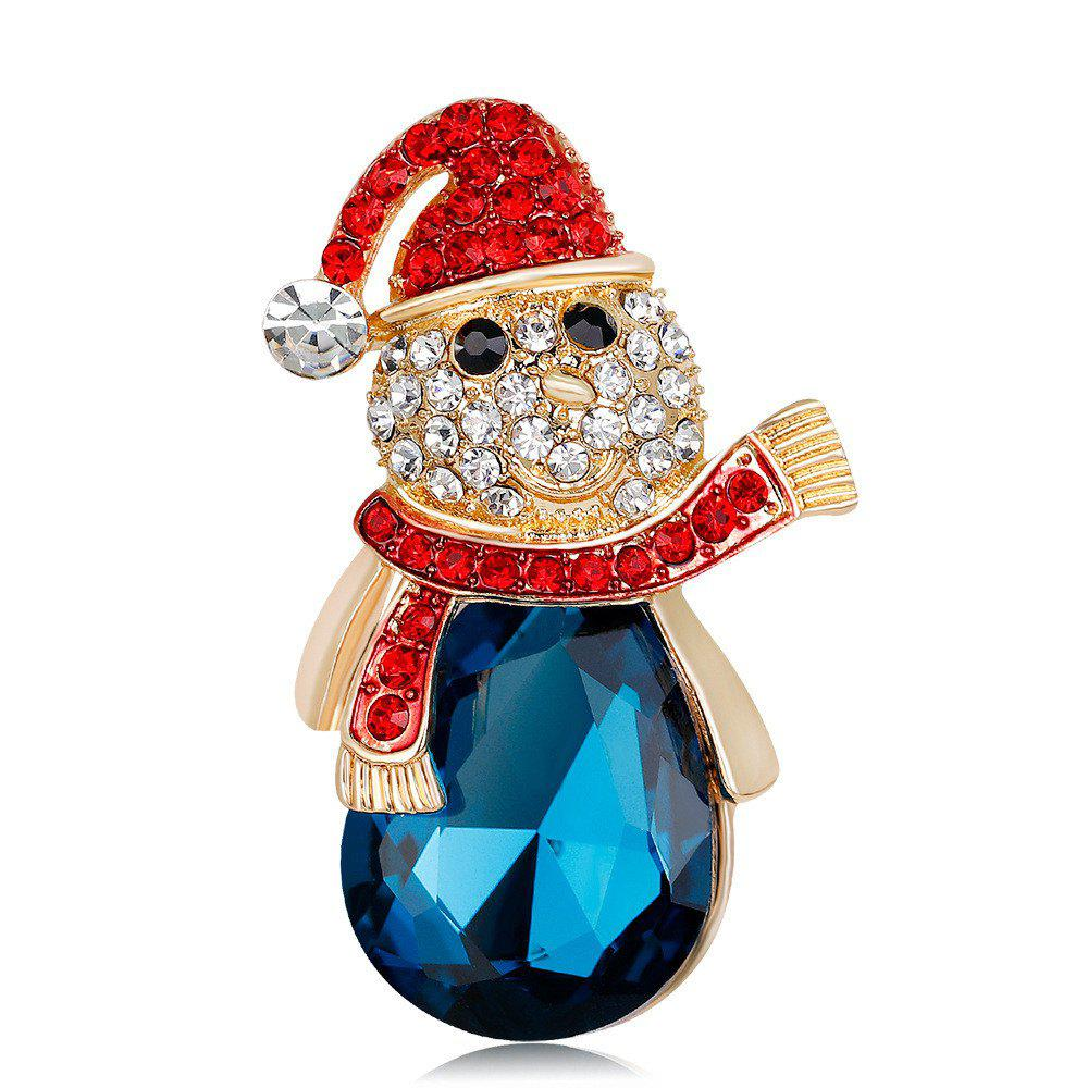 Unique Fashion and Exquisite Diamond Studded Christmas Snowman Brooch