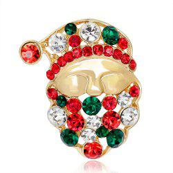 Christmas Luxury Gift Gold Santa Claus Brooch -
