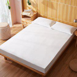 Full Cotton Pure Color Water Prevented Fitted Bed Sheet -