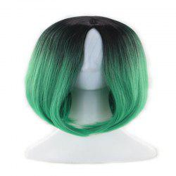 Ms. Gradient Short Straight Hair Wave Head Bobo Head Dyed Female Wig -