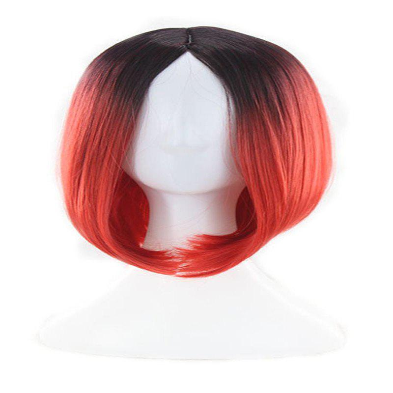 Buy Ms. Gradient Short Straight Hair Wave Head Bobo Head Dyed Female Wig