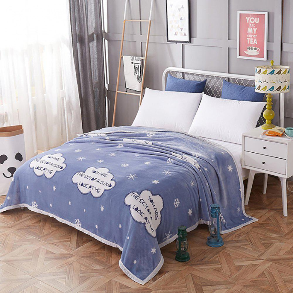 Flannel Thickened Blanket Reactive Printing Comfortable Warm Soft