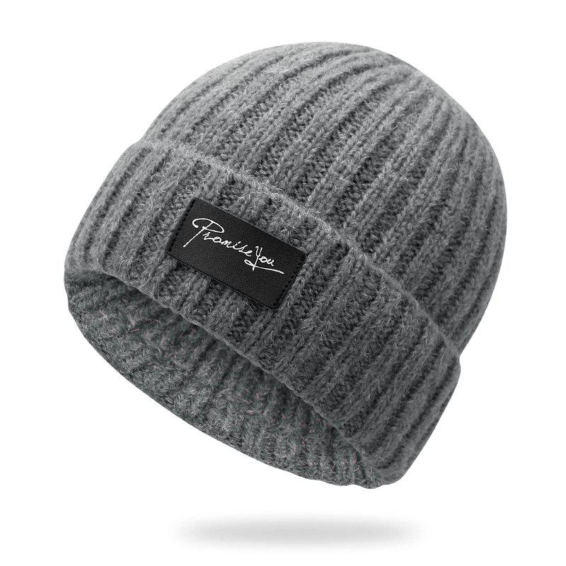 Affordable Autumn and winter knit hat winter warm headgear + size code for 56-60cm