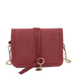 Fashion PU Ladies Messenger Bag Casual Frosted Chain Small Square Bag -