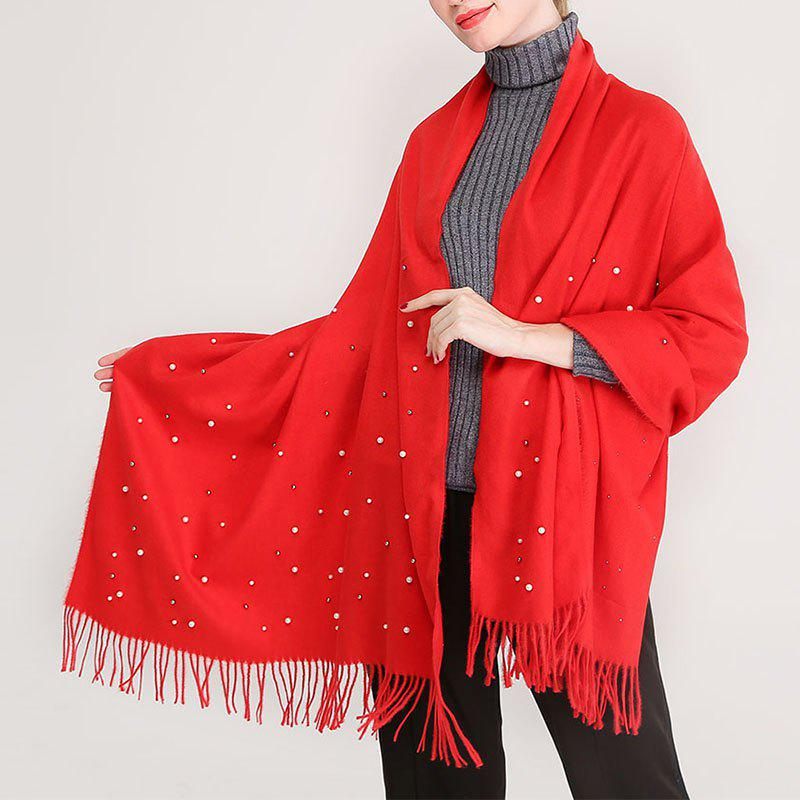 Unique Pearl Bright Lady Scarf Oversize Classic Soft Winter Women Scarf
