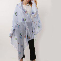 Butterfly Pattern Rayon Women Soft Scarf -