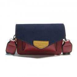 Vintage Color Bump Single-Shoulder Slant Straddle Bag -