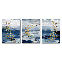 DYC 3PCS Abstract Butterfly Print Art -