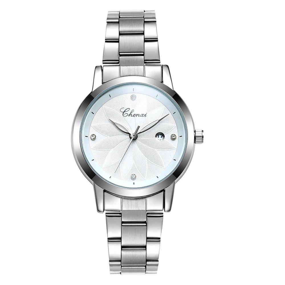 Outfit Chenxi 303L Luxury Stainless Steel Strap Wristwatch Quartz Watch for Women