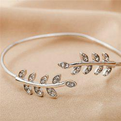 He Temperament of Baitao Women's with Diamond Leaf Bracelet -