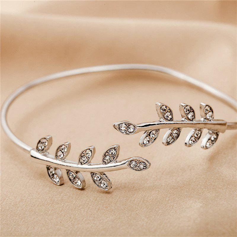Best He Temperament of Baitao Women's with Diamond Leaf Bracelet