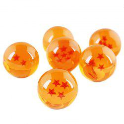 7PCS 3.8CM Dragon Ball Crystal Balls Set Collection Toy -