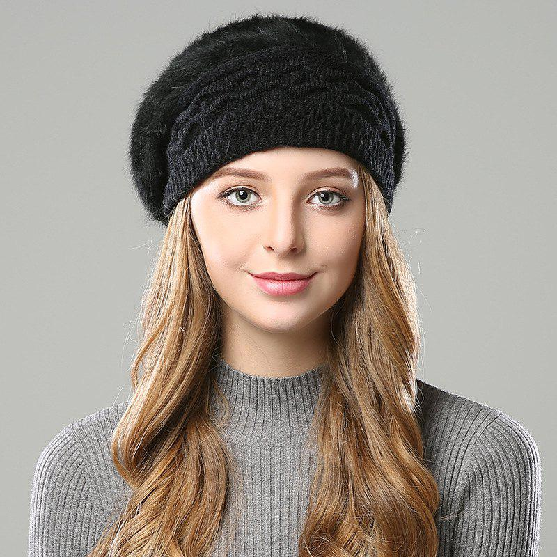 Buy New Woman Fashion Korea Winter Double Knit Sweater Very Nice Warm Beret Hat