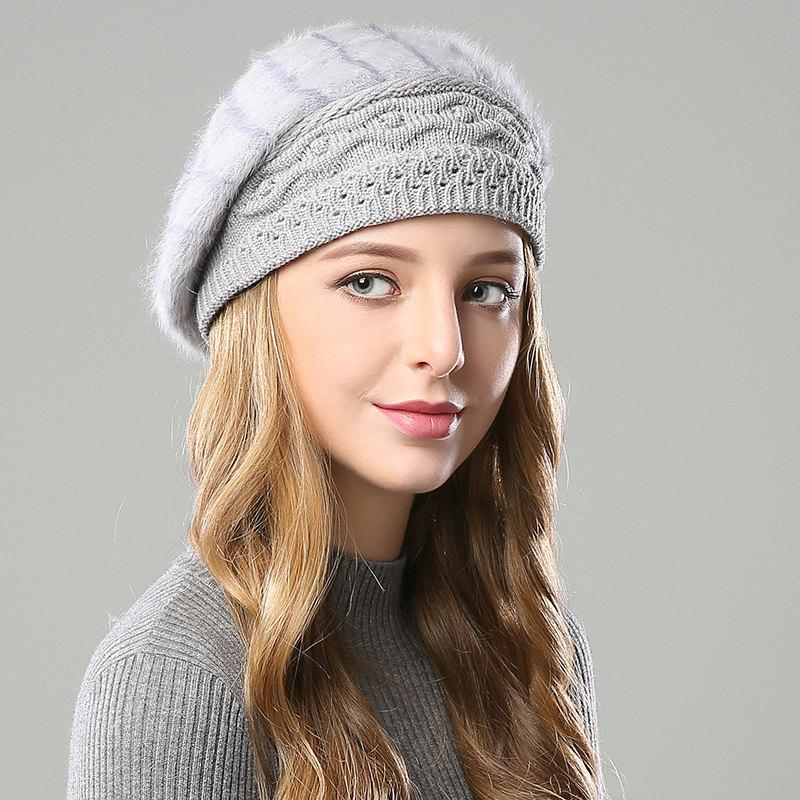 Outfit New Woman Fashion Korea Winter Double Knit Sweater Very Nice Warm Beret Hat
