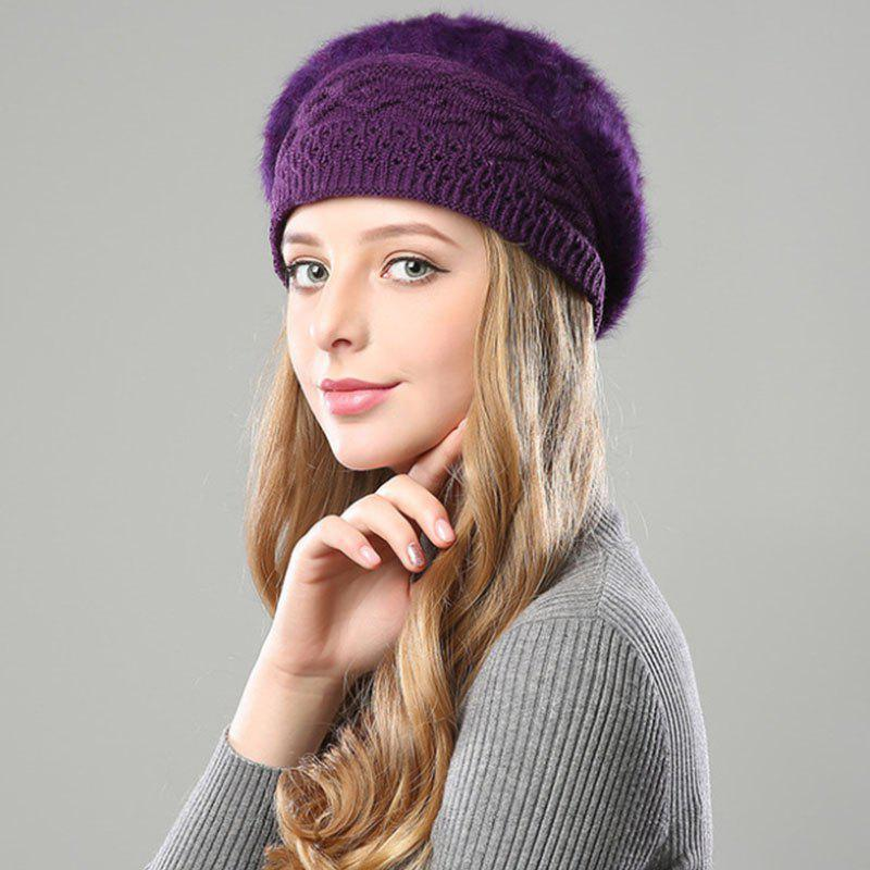 Latest New Woman Fashion Korea Winter Double Knit Sweater Very Nice Warm Beret Hat