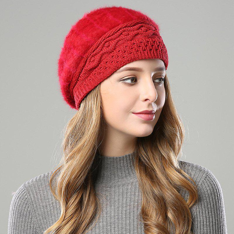 2d234348 Shops New Woman Fashion Korea Winter Double Knit Sweater Very Nice Warm Beret  Hat