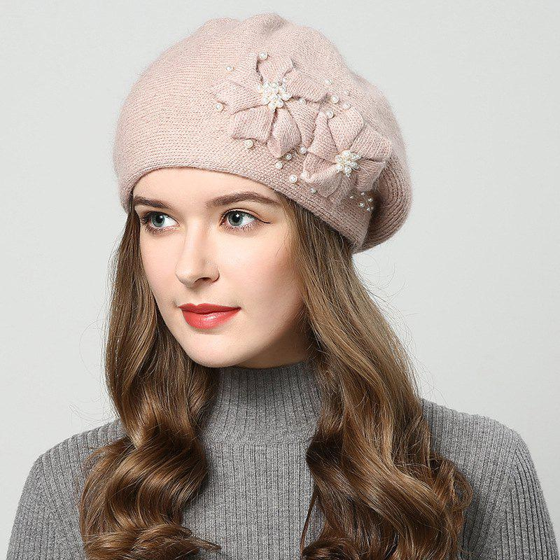 Store New Woman Autumn Winter Thicken Very Nice with Pearl Bean Beret Hat