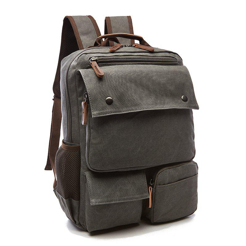Fancy New Large Capacity Canvas Backpack Multi-functional Outdoor Men's Backpack