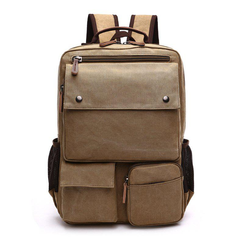 Sale New Large Capacity Canvas Backpack Multi-functional Outdoor Men's Backpack
