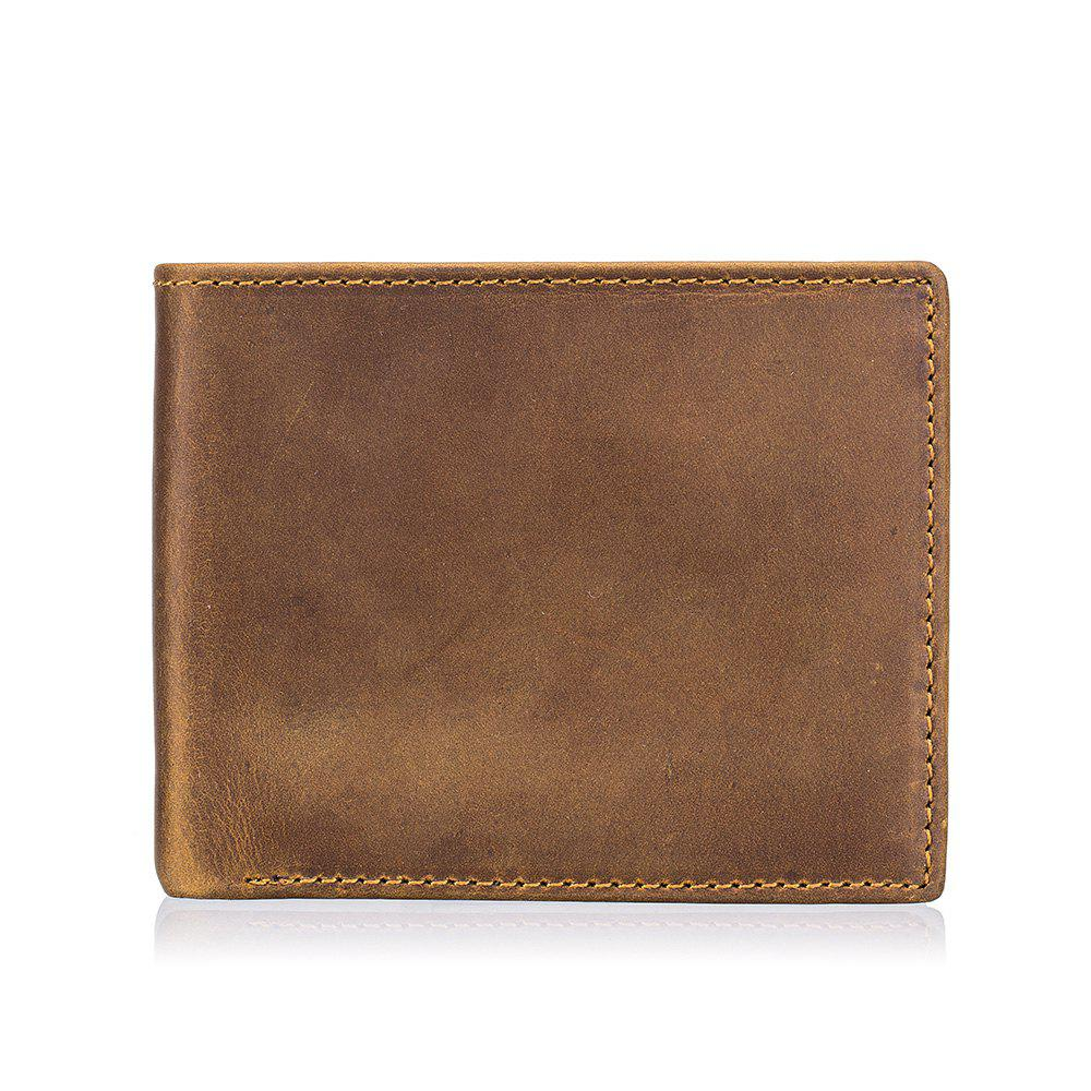 Cheap Men's Casual Vintage First Layer Leather Cardet Wallet