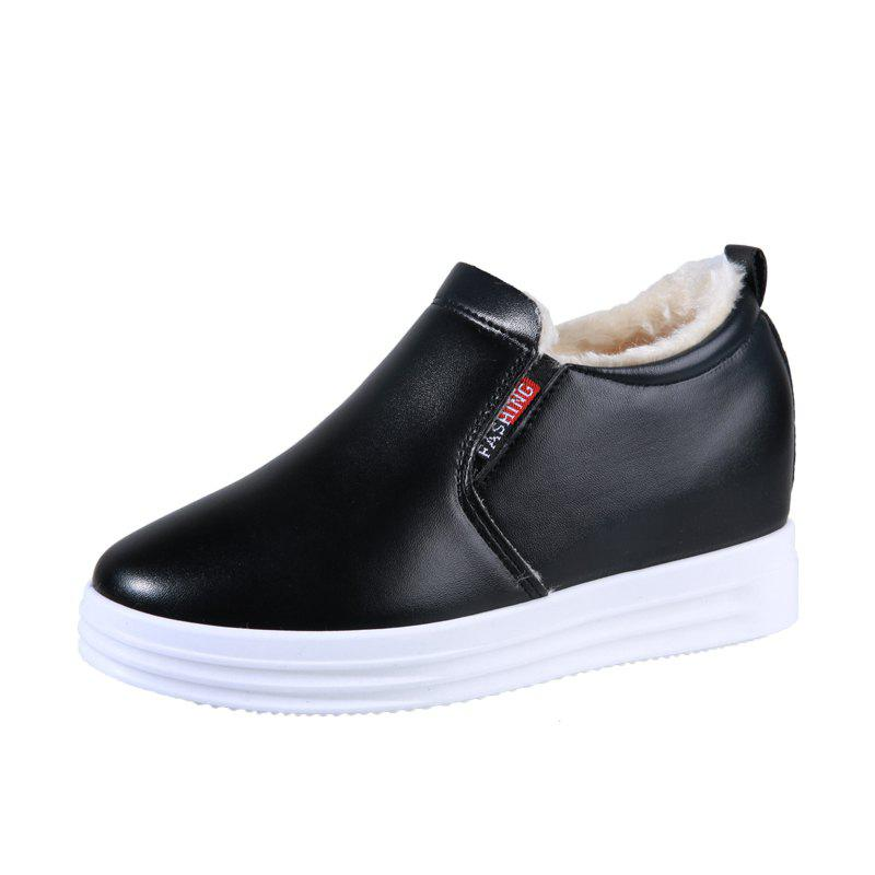 Trendy Newstyle Womens Single Shoes With Thick Sole And Velour