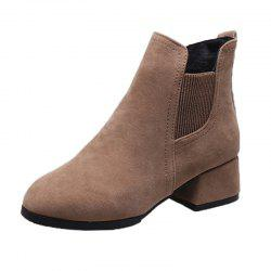 Winter Girl With Medium Heel And Shoe Boots -
