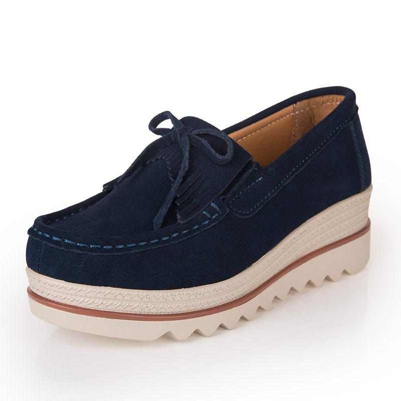 Cheap Spring and Autumn Leather Thicker Shoes